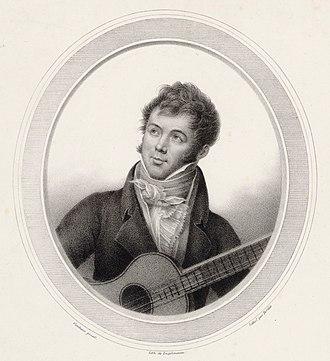 Fernando Sor - A lithographed painting of Fernando Sor, c.1825
