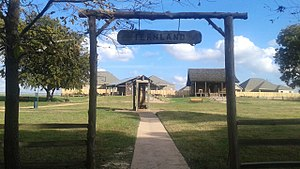 Montgomery, Texas - View of the entrance to Fernland Historical Park from Memory Park.