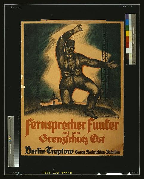 File:Fernsprecher Funker auf zum Grenzschutz Ost, Berlin-Treptow Garde Nachtrichten-Bataillon LCCN2004665881.jpg
