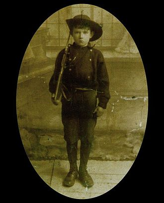 Fianna Éireann - Fian Seán Healy, the youngest casualty in the Easter Rising on the Republican side at 15 years old