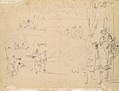 Figure Studies (recto); Figures Along a Canal and on a Bridge; to the right, a Curtain and a Stool (?) (verso) MET 1975.131.31 VERSO.jpg