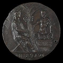 Nero, Laureate, Seated Under Palm Tree [reverse]