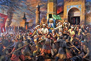 History of Kazan - Qolsharif and his students defend their mosque during the Siege of Kazan.