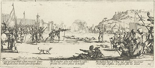 Firing squad from The Miseries and Misfortunes of War by Jacques Callot