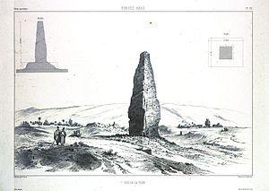 Minar (Firuzabad) - Image: Firouz abad (Fīrūzābād). Vue de la tour (NYPL b 12482496 1542746)