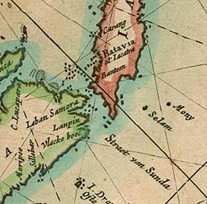 Pieter Goos - Detail of his East Indies map showing Christmas Island
