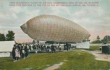 First Successful Flight of the Air Ship, Knabenshue, Toledo, Ohio, 1900s