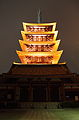 Five-storied Pagoda, Sensoji at night.JPG