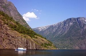 Nærøyfjord - Image: Fjord in Norway