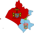 Flag map of provinces of Lambayeque.png
