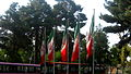Flag of Iran in the Nishapur Railway Station square 07.JPG
