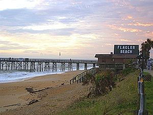 Flagler Beach, Florida - Scenic view of Flagler Beach Pier