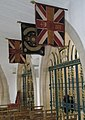 Flags high up on the wall within the chapel for The Queen's Royal Surrey Regiment - geograph.org.uk - 1152240.jpg