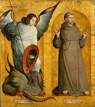 Juan de Flandes - The Archangel Michael and Saint Francis of Assisi.