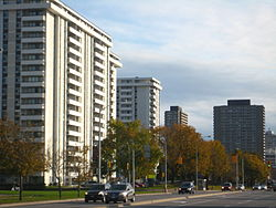Don Mills Road south of Eglinton Avenue