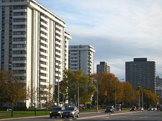 Flemingdon Park Neighbourhood in Toronto, Ontario, Canada