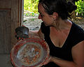 Flickr - ggallice - Constance with Maya monkey-cup.jpg