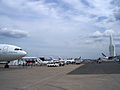 Flight line at the 2009 Paris Air Show.jpg
