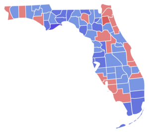 Florida Gubernatorial election 1990, results by counties.png