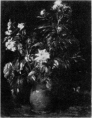 Bloemen in een rood aarden pot