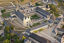 Aerial view of Fontevraud Abbey