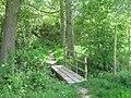Footbridge in Sticklands Wood - geograph.org.uk - 1292884.jpg