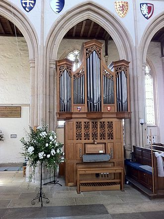 Church of St Mary and All Saints, Fotheringhay - Organ by Vincent Woodstock