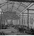 Fotothek df ps 0000316 Ruine einer Werkhalle mit erhalten gebliebener Stahl-Dach.jpg