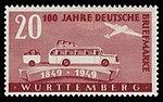 Fr. Zone Württemberg 1949 50 Postbus und Flugzeug.jpg
