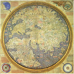 Fra Mauro map - The Fra Mauro map, inverted according to the modern North-South orientation.