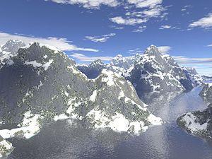Fractal landscape - Computer generated fractal terrain