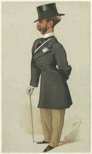 "Sir Francis Seymour, 1st Baronet - ""Albert's Seymour"" As caricatured by Carlo Pellegrini in Vanity Fair, 1877"