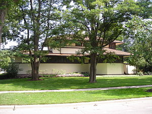 Elmhurst, Illinois - The F.B. Henderson House in Elmhurst was designed by Frank Lloyd Wright in 1901.