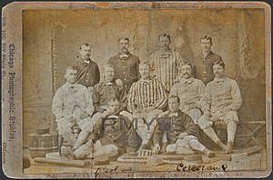 Fred Goldsmith (baseball) - Image: Fred Goldsmith in 1882 Chicago White Stockings Team Photo