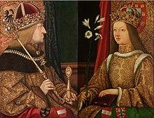 Friedrich III. und Eleonore Helena von Portugal (Hans Burgkmair der Ältere nach 1468) (Quelle: Wikimedia)