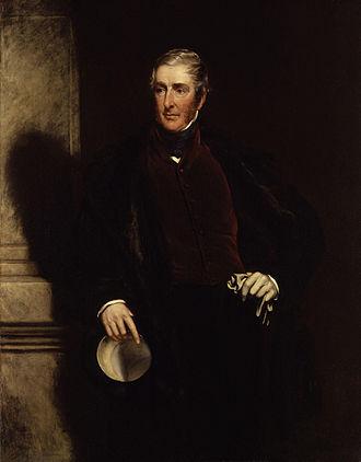 Frederick Lamb, 3rd Viscount Melbourne - Portrait of Frederick James Lamb, 3rd Viscount Melbourne by John Partridge, 1846