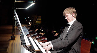 Frederik Magle - Frederik Magle at the organ in Koncerthuset, Copenhagen