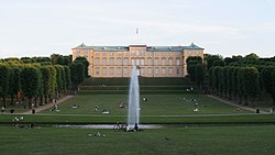 Frederiksberg Palace seen from the park