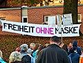Freiheit ohne Maske - COVID-19 related protest Biberach an der Riß 2020-10-25 (10).JPG