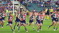 Fremantle players warming up prior to a game.jpg