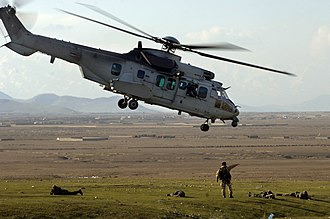 French Army Light Aviation - Image: French Army Cougar helicopter Afghanistan