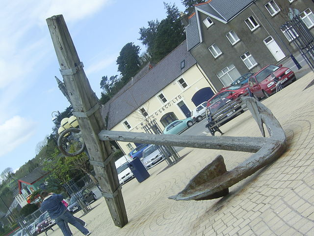 "Anchor from the French frigate ""La Surveillante,"" part of the French Armada force in 1796, which sank near Bantry, Ireland. The anchor was discovered and recovered in 1981."