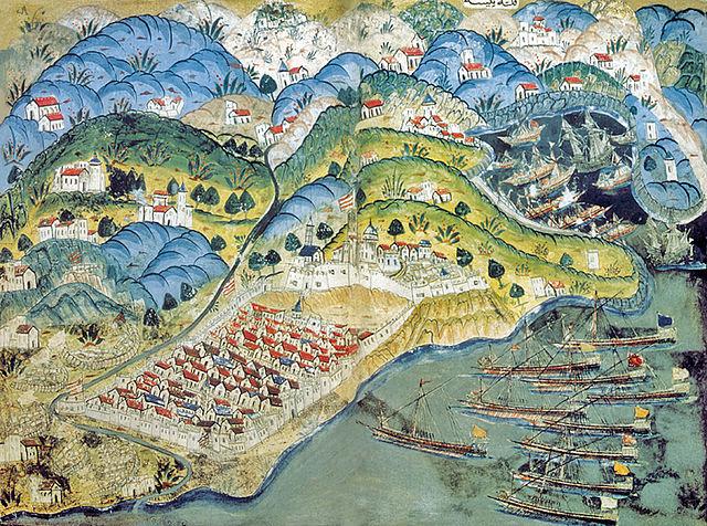 Siège de Nice par les Français et des Ottomans en 1543.