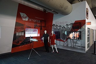 Virgin America - The Virgin America exhibit at the Frontiers of Flight Museum at Dallas Love Field
