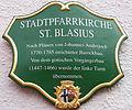 Fulda - Stadtpfarrkirche St. Blasius - Schild.JPG