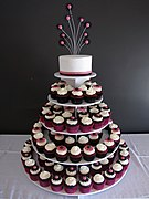 Funky Daisy Gerbera Wedding Cupcake Tower (4740111499).jpg
