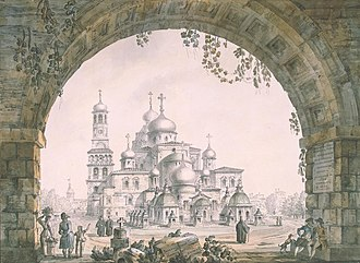 Giacomo Quarenghi - Quarenghi's best known vedute meticulously represent mediaeval monuments of Moscow and its environs.