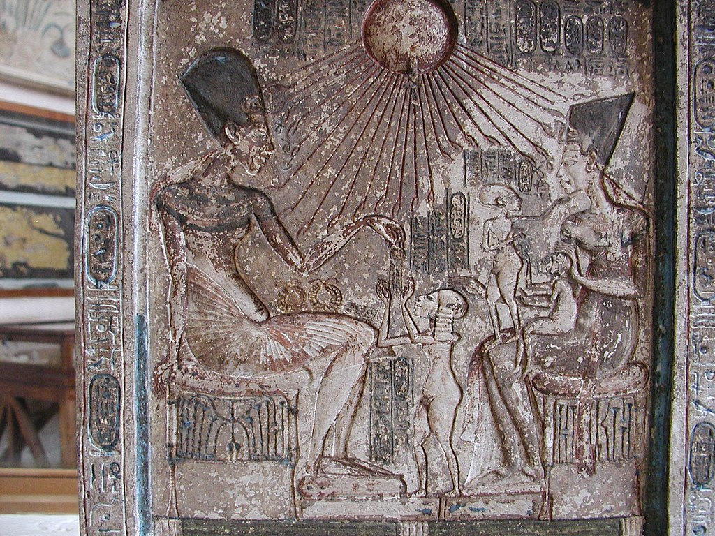 Stela of Akhenaten, Nefertiti and Family