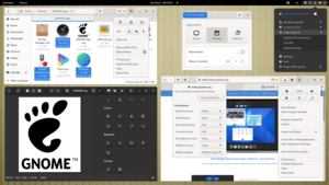 GNOME Shell with some GNOME applications (version 40, released in 2021-03).png