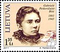 Gabriele Petkevicaite-Bite 2011 Lithuania stamp.jpg
